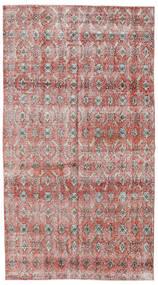 Colored Vintage Szőnyeg 140X257 Modern Csomózású Világosszürke/Sötétpiros (Gyapjú, Törökország)
