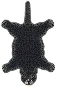 Leopard - Fekete Szőnyeg 100X160 Modern Sötétszürke (Gyapjú, India)