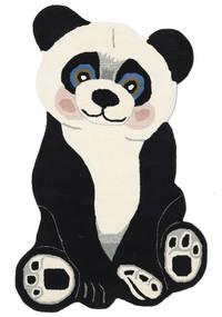 Panda Baby Szőnyeg 100X160 Modern Sötétszürke/Bézs (Gyapjú, India)