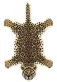 Leopard - Bézs Szőnyeg 100X160 Modern Fekete/Világosbarna/Bézs (Gyapjú, India)