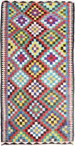 Kilim Szőnyeg 183X360 Keleti Kézi Szövésű Világosszürke/Fekete (Gyapjú, Perzsia/Irán)