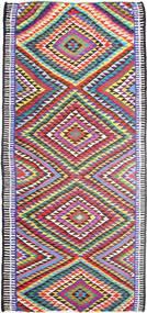 Kilim Szőnyeg 172X365 Keleti Kézi Szövésű Világosszürke/Bíbor (Gyapjú, Perzsia/Irán)