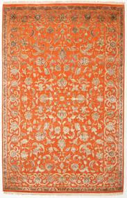 Kashan Indiai Gyapjú/Viscos Szőnyeg 196X303 Keleti Csomózású (Gyapjú/Selyem, India)