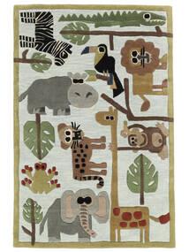 Zoo Handtufted Szőnyeg 120X180 Modern Világoskék/Világosszürke (Gyapjú, India)