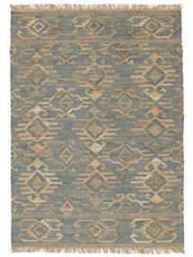 Kültéri Szőnyeg Kalahari Jute Szőnyeg 200X300 Modern Kézi Szövésű Világosszürke/Türkiz Kék ( India)