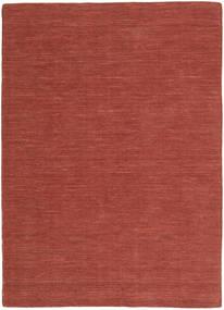 Kilim Loom - Rozsdaszín Szőnyeg 160X230 Modern Kézi Szövésű Sötétpiros (Gyapjú, India)