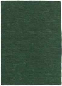 Kilim Loom - Erdőzöld Szőnyeg 160X230 Modern Kézi Szövésű Sötétzöld (Gyapjú, India)