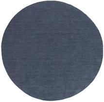 Kilim Loom - Denim Kék Szőnyeg Ø 200 Modern Kézi Szövésű Kerek Kék (Gyapjú, India)