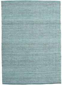Alva - Turquoise/White Szőnyeg 140X200 Modern Kézi Szövésű Világoskék/Türkiz Kék (Gyapjú, India)