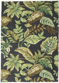 Jungel - Zöld/Fekete Szőnyeg 160X230 Modern Sötétzöld/Világoszöld/Sötétszürke (Gyapjú, India)