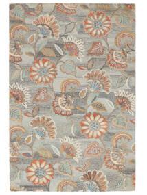 Rusty Flowers - Szürke/Rozsdaszín Szőnyeg 200X300 Modern Világosszürke/Sötét Bézs (Gyapjú, India)