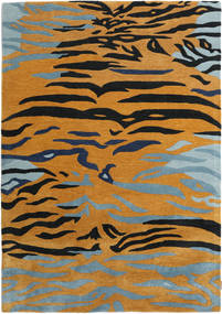 Love Tiger - Narancssárga/Szürke Szőnyeg 160X230 Modern Világosbarna/Fekete ( India)