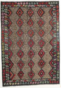 Kilim Afgán Old Style Szőnyeg 175X250 Keleti Kézi Szövésű Sötétszürke/Sötétpiros (Gyapjú, Afganisztán)
