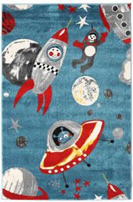 Astronauts Szőnyeg 120X180 Modern Sötét Turquoise/Világosszürke ( Törökország)