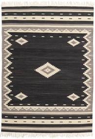 Tribal - Fekete Szőnyeg 160X230 Modern Kézi Szövésű Fekete/Bézs (Gyapjú, India)