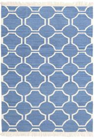 London - Kék/Off White Szőnyeg 120X180 Modern Kézi Szövésű Kék/Bézs (Gyapjú, India)