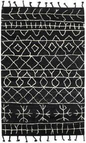 Moss Berber - Fekete Szőnyeg 180X275 Modern Csomózású Fekete (Gyapjú, India)