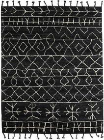Moss Berber - Fekete Szőnyeg 240X300 Modern Csomózású Fekete/Sötétszürke (Gyapjú, India)