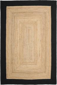 Kültéri Szőnyeg Frida Frame - Natural/Fekete Szőnyeg 200X300 Modern Kézi Szövésű Sötét Bézs/Fekete/Bézs ( India)