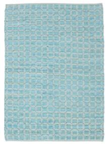 Elna - Bright_Blue Szőnyeg 140X200 Modern Kézi Szövésű Világoskék/Türkiz Kék (Pamut, India)
