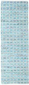 Elna - Bright_Blue Szőnyeg 80X250 Modern Kézi Szövésű Világoskék/Türkiz Kék (Pamut, India)