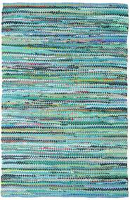 Ronja - Zöld Mix Szőnyeg 140X200 Modern Kézi Szövésű Türkiz Kék/Világoskék (Pamut, India)
