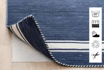 Anti Slip, Non-Woven Szőnyeg 130X190 Modern Kék/Világosszürke ( Belgium)