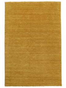 Handloom Fringes - Sárga Szőnyeg 160X230 Modern Narancssárga/Világosbarna (Gyapjú, India)