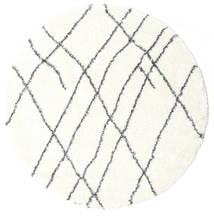 Shaggy Tangier - White/Sötétszürke Szőnyeg Ø 200 Modern Kerek Bézs/Bézs/Krém ( Törökország)