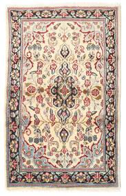 Kerman Szőnyeg 88X140 Keleti Csomózású Világosbarna/Bézs (Gyapjú, Perzsia/Irán)