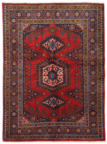 Wiss Szőnyeg 162X220 Keleti Csomózású Sötétpiros/Sötétlila (Gyapjú, Perzsia/Irán)