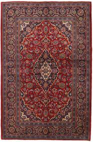 Kashan Szőnyeg 143X215 Keleti Csomózású Sötétpiros/Sötétbarna (Gyapjú, Perzsia/Irán)