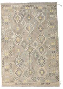 Kilim Afgán Old Style Szőnyeg 173X254 Keleti Kézi Szövésű Világosszürke/Bézs (Gyapjú, Afganisztán)