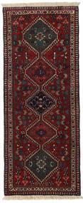 Yalameh Szőnyeg 60X148 Keleti Csomózású Sötétbarna/Sötétpiros (Gyapjú, Perzsia/Irán)