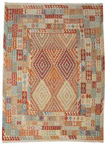 Kilim Afgán Old Style Szőnyeg 258X349 Keleti Kézi Szövésű Világosbarna/Sötétpiros Nagy (Gyapjú, Afganisztán)