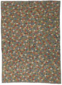Kilim Afgán Old Style Szőnyeg 173X237 Keleti Kézi Szövésű Olívazöld/Sötétszürke (Gyapjú, Afganisztán)