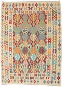 Kilim Afgán Old Style Szőnyeg 256X345 Keleti Kézi Szövésű Bézs/Sötét Bézs Nagy (Gyapjú, Afganisztán)