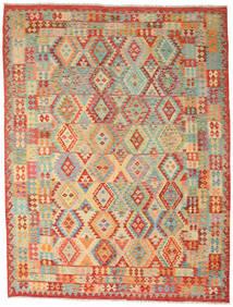 Kilim Afgán Old Style Szőnyeg 260X336 Keleti Kézi Szövésű Sötét Bézs/Piros Nagy (Gyapjú, Afganisztán)