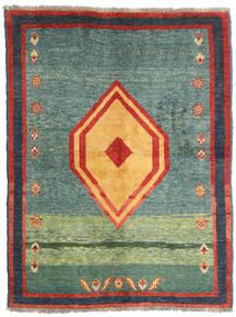 Gabbeh Rustic Szőnyeg 137X178 Modern Csomózású Zöld/Sötétszürke (Gyapjú, Perzsia/Irán)