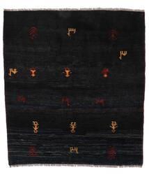 Gabbeh Rustic Szőnyeg 153X169 Modern Csomózású Fekete (Gyapjú, Perzsia/Irán)