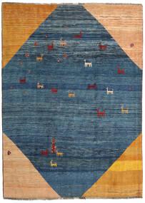 Gabbeh Rustic Szőnyeg 205X284 Modern Csomózású Sötétkék/Sötét Bézs (Gyapjú, Perzsia/Irán)