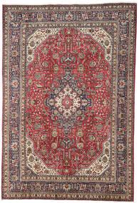 Tabriz Szőnyeg 196X298 Keleti Csomózású Sötétpiros/Világosszürke (Gyapjú, Perzsia/Irán)