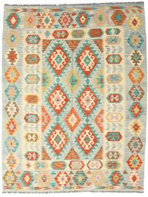 Kilim Afgán Old Style Szőnyeg 189X242 Keleti Kézi Szövésű Bézs/Sötét Bézs (Gyapjú, Afganisztán)