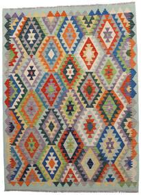 Kilim Afgán Old Style Szőnyeg 146X198 Keleti Kézi Szövésű Világosszürke/Sötétszürke (Gyapjú, Afganisztán)