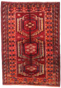 Lori Szőnyeg 158X223 Keleti Csomózású Sötétpiros/Rozsdaszín (Gyapjú, Perzsia/Irán)