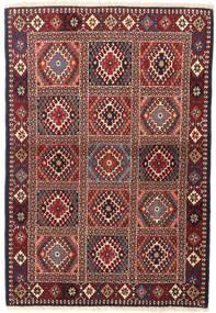 Yalameh Szőnyeg 99X146 Keleti Csomózású Sötétpiros/Sötétszürke (Gyapjú, Perzsia/Irán)