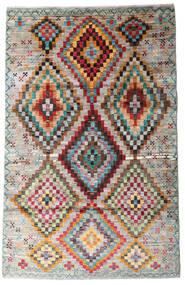 Moroccan Berber - Afghanistan Szőnyeg 116X182 Modern Csomózású Világosszürke/Világosbarna (Gyapjú, Afganisztán)