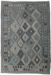 Kilim Afgán Old Style Szőnyeg 203X289 Keleti Kézi Szövésű Sötétzöld/Zöld/Világosszürke (Gyapjú, Afganisztán)