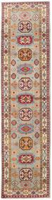 Kazak Szőnyeg 86X349 Keleti Csomózású Világosbarna/Világosszürke (Gyapjú, Afganisztán)