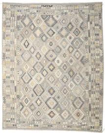 Kilim Afgán Old Style Szőnyeg 312X391 Keleti Kézi Szövésű Világosszürke/Bézs Nagy (Gyapjú, Afganisztán)